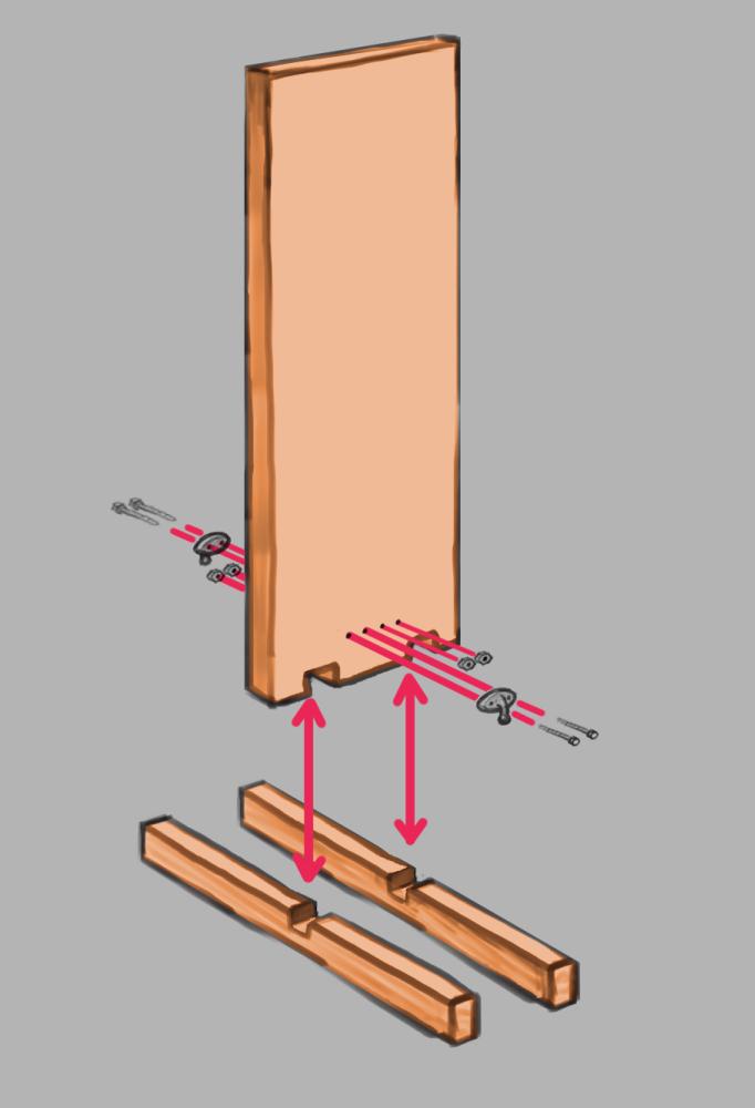 ロープワーク練習用器具概要図